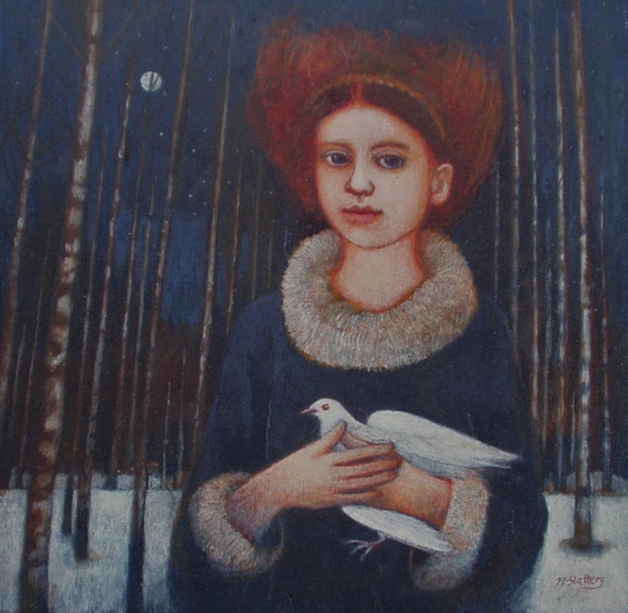 Night Dove - Greeting Card