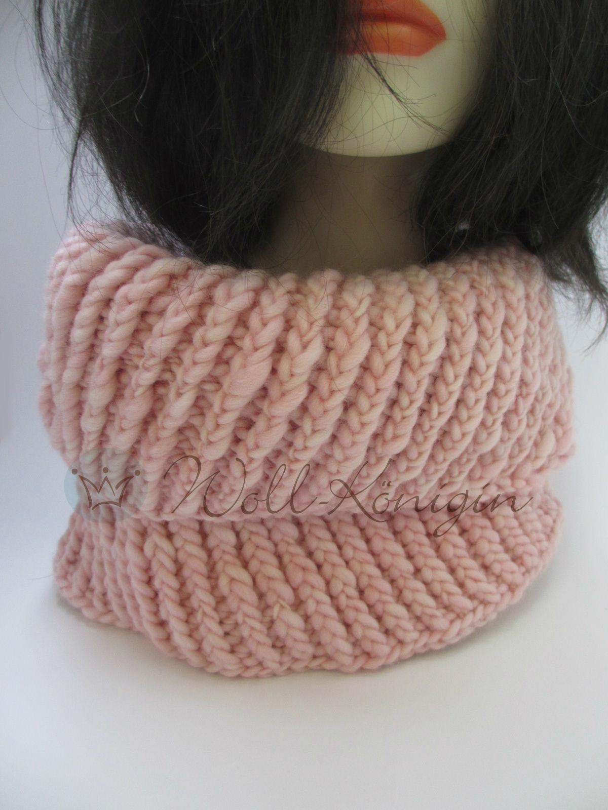 Loop gestrickt rosa
