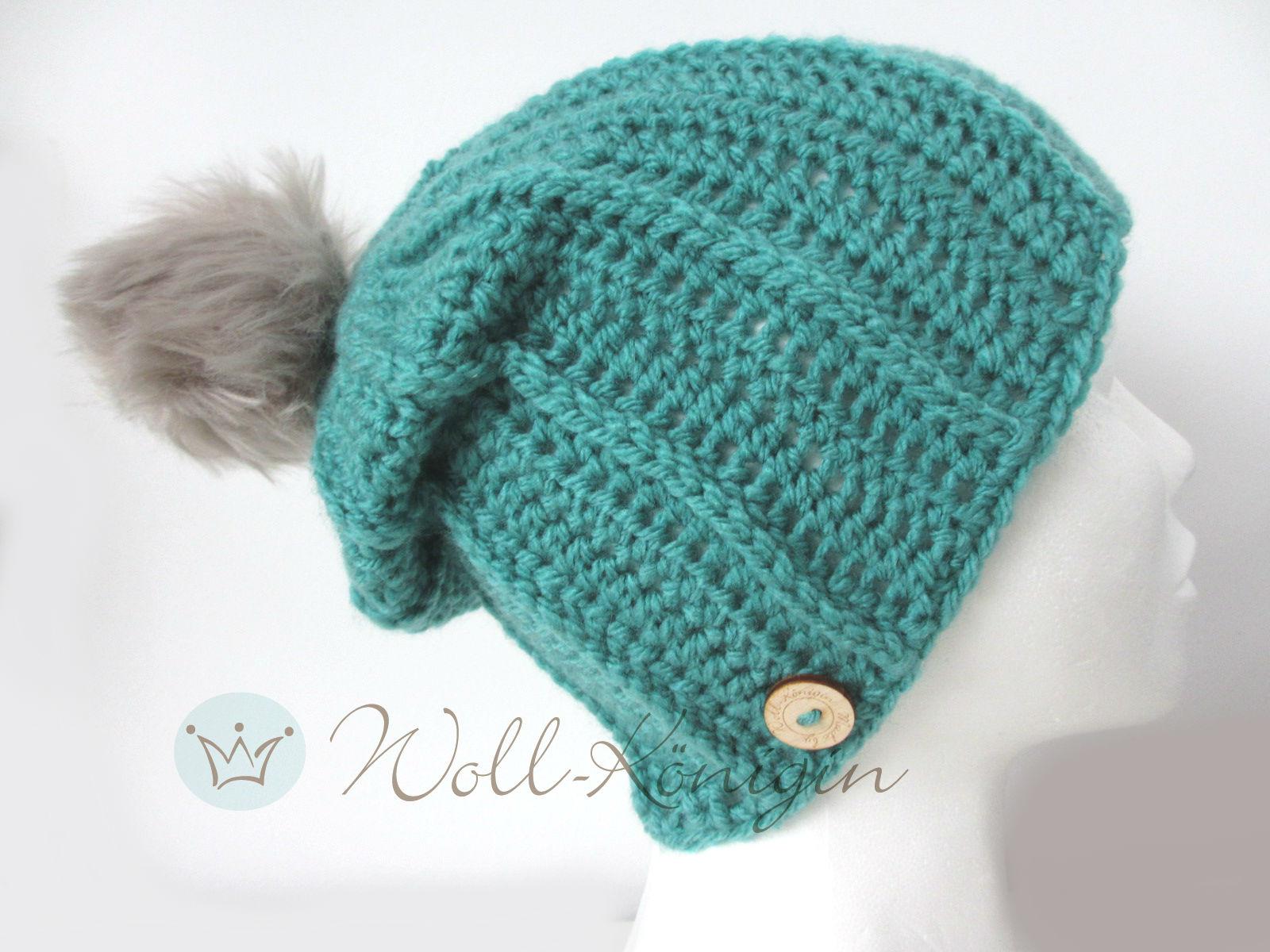 Bommel Mütze Grün