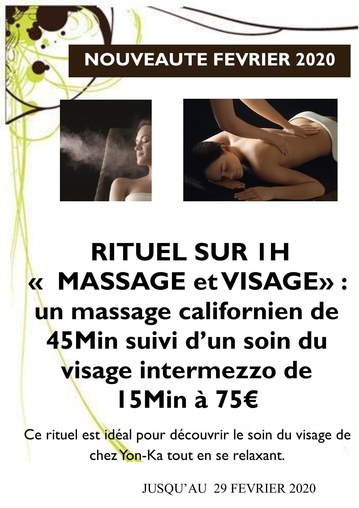 massage californien 45 min et visage 15min
