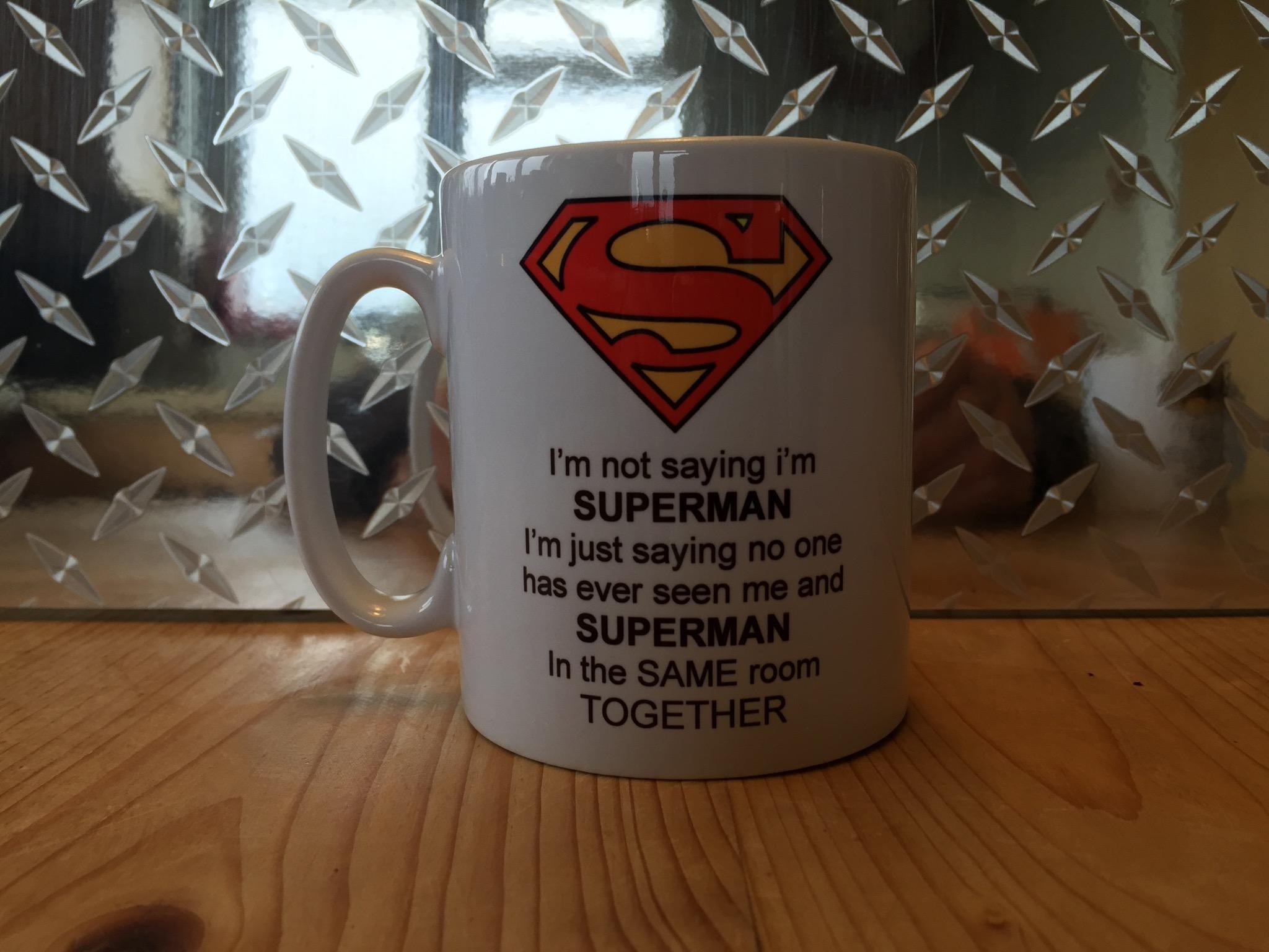 Superman funny mug