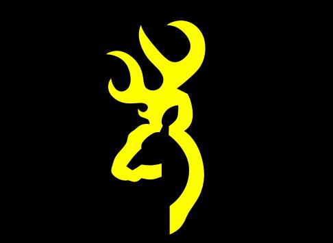 Browning large logo decal