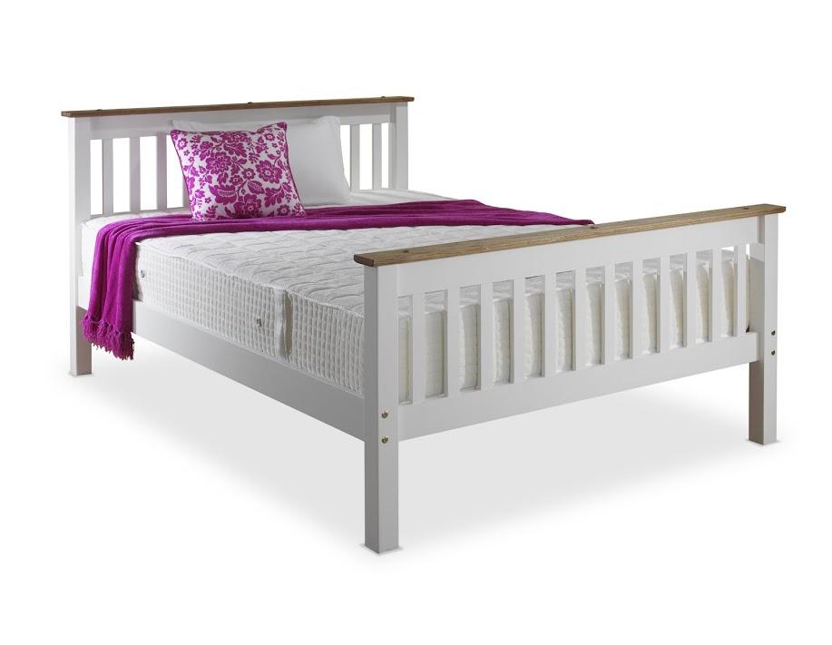 DEVON BED IN WHITE PINE