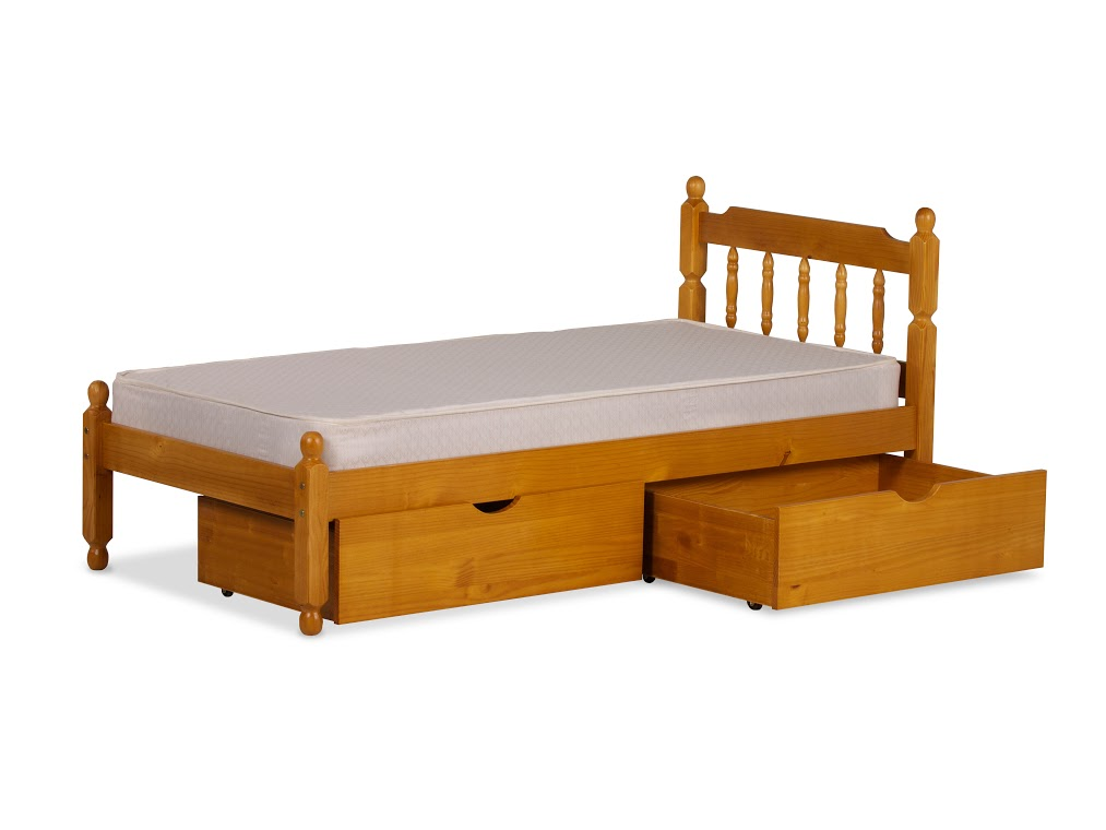 3FT SPINDLE BED IN HONEY