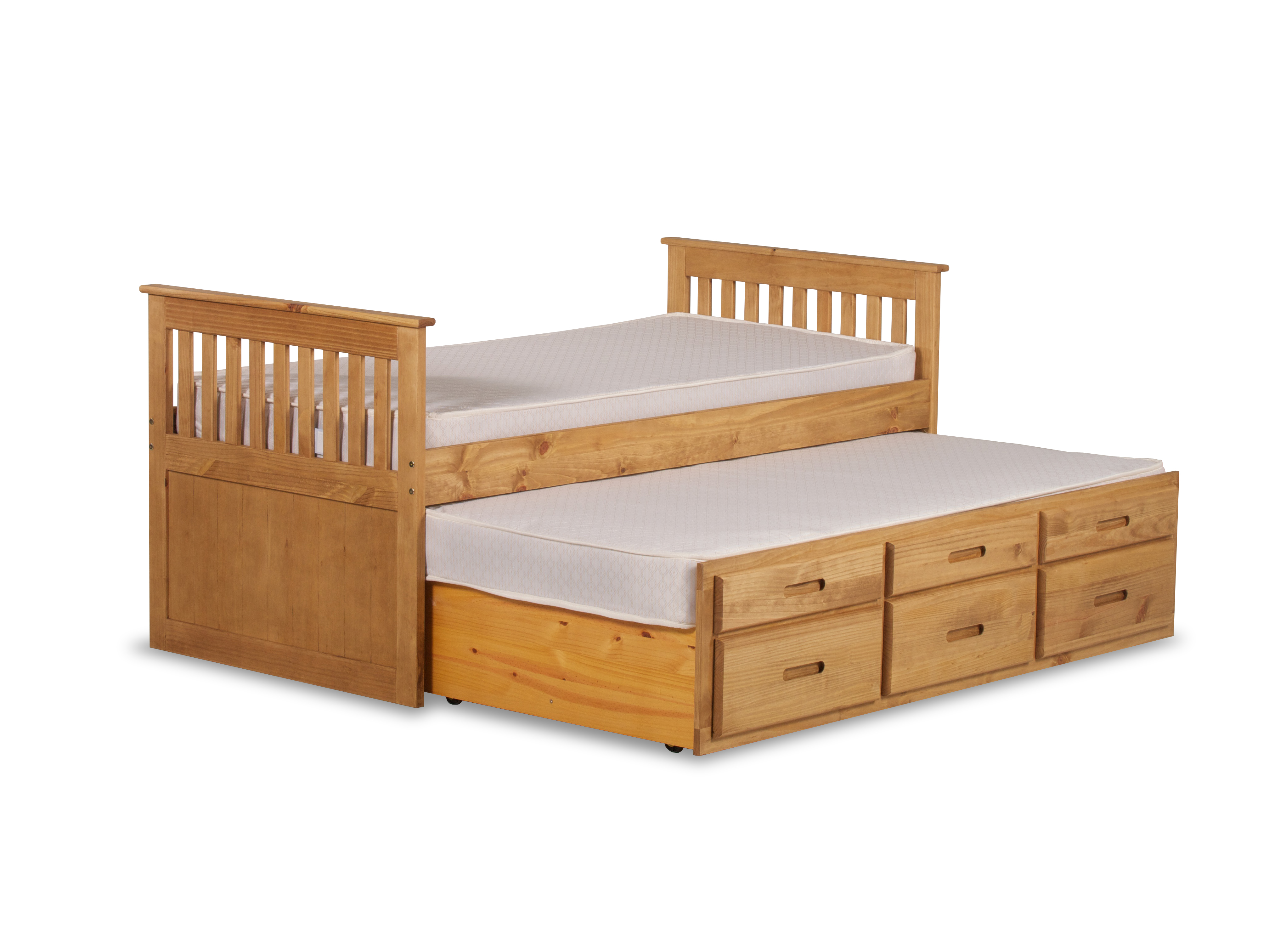 CAPTAINS UNDER-BED IN WAXED PINE