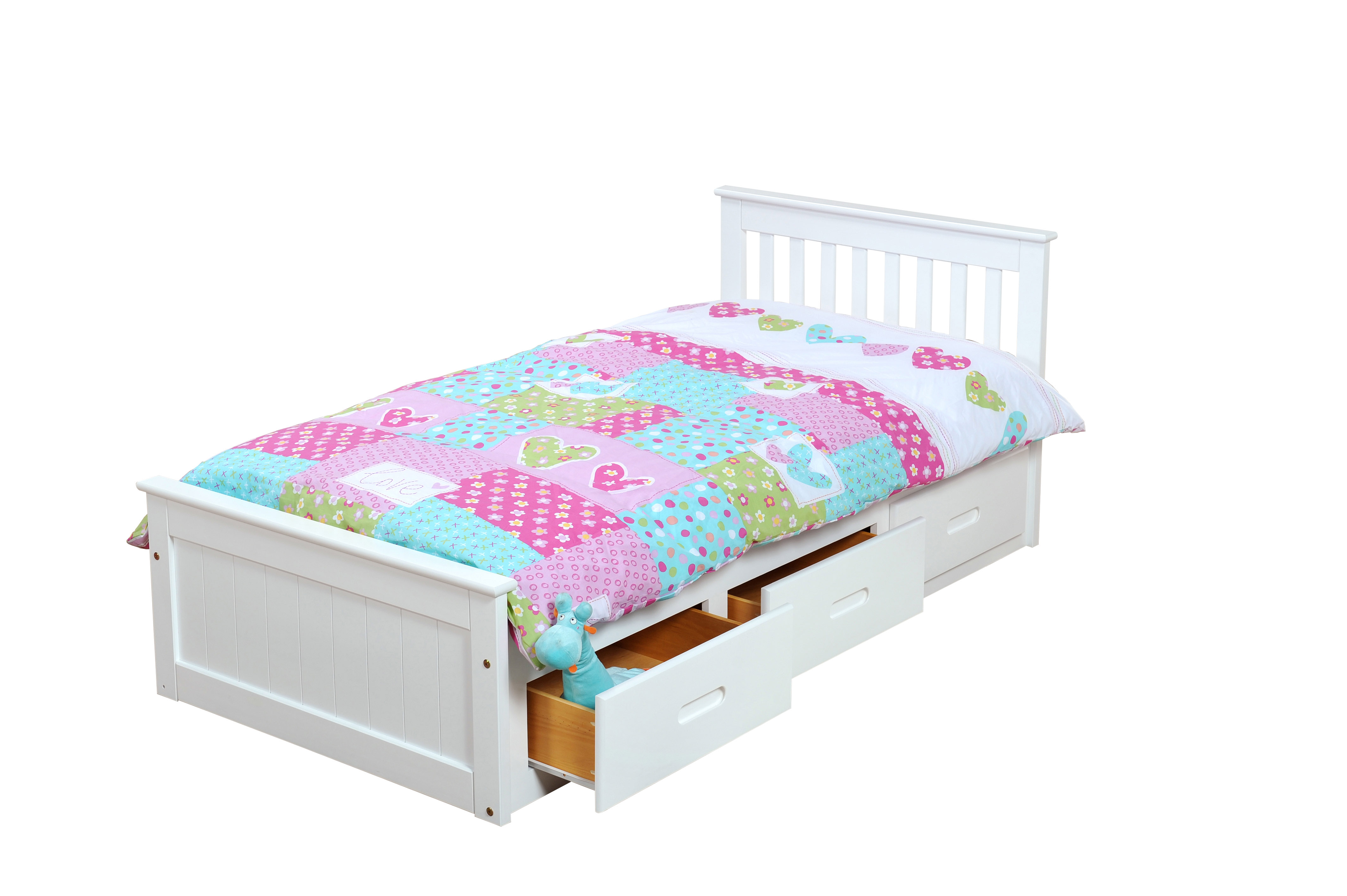 3FT MISSION STORAGE BED IN WHITE