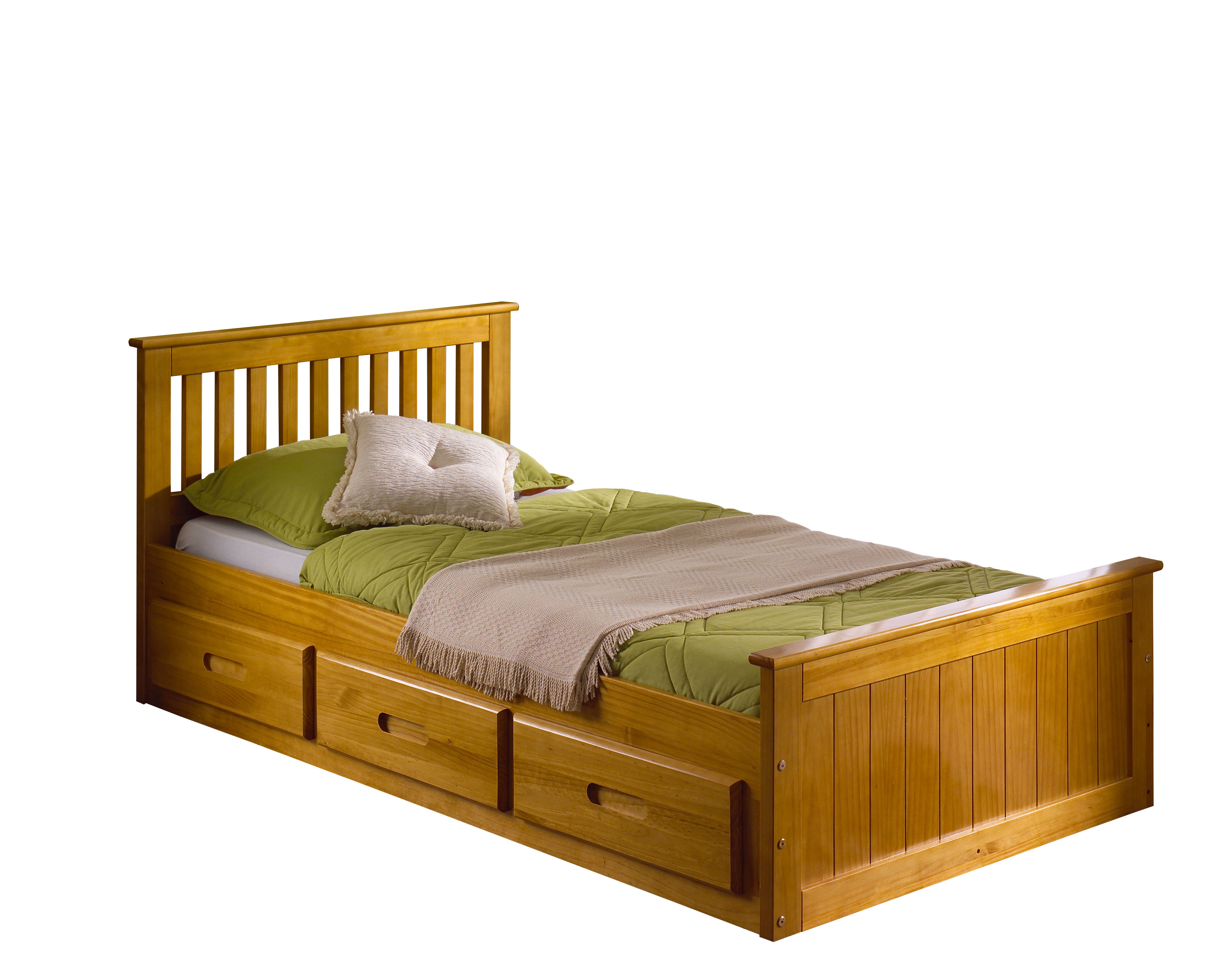 3FT MISSION STORAGE BED IN HONEY