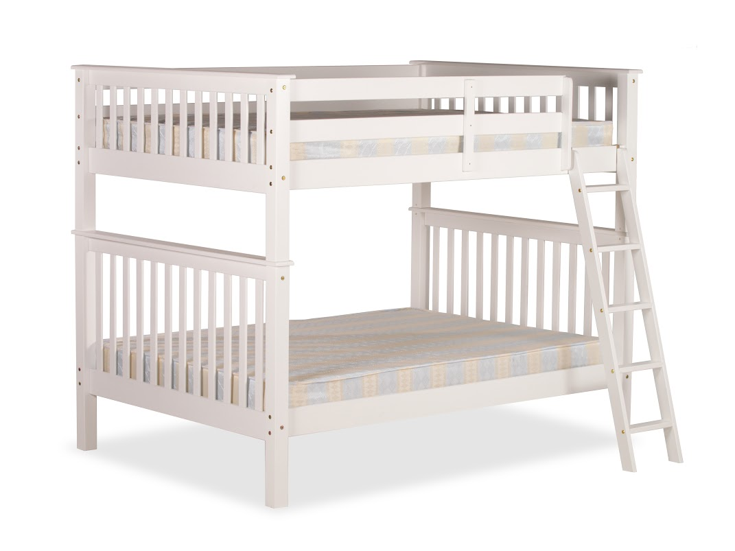 4FT OVER 4FT MALVERN BUNK BED IN WHITE PINE