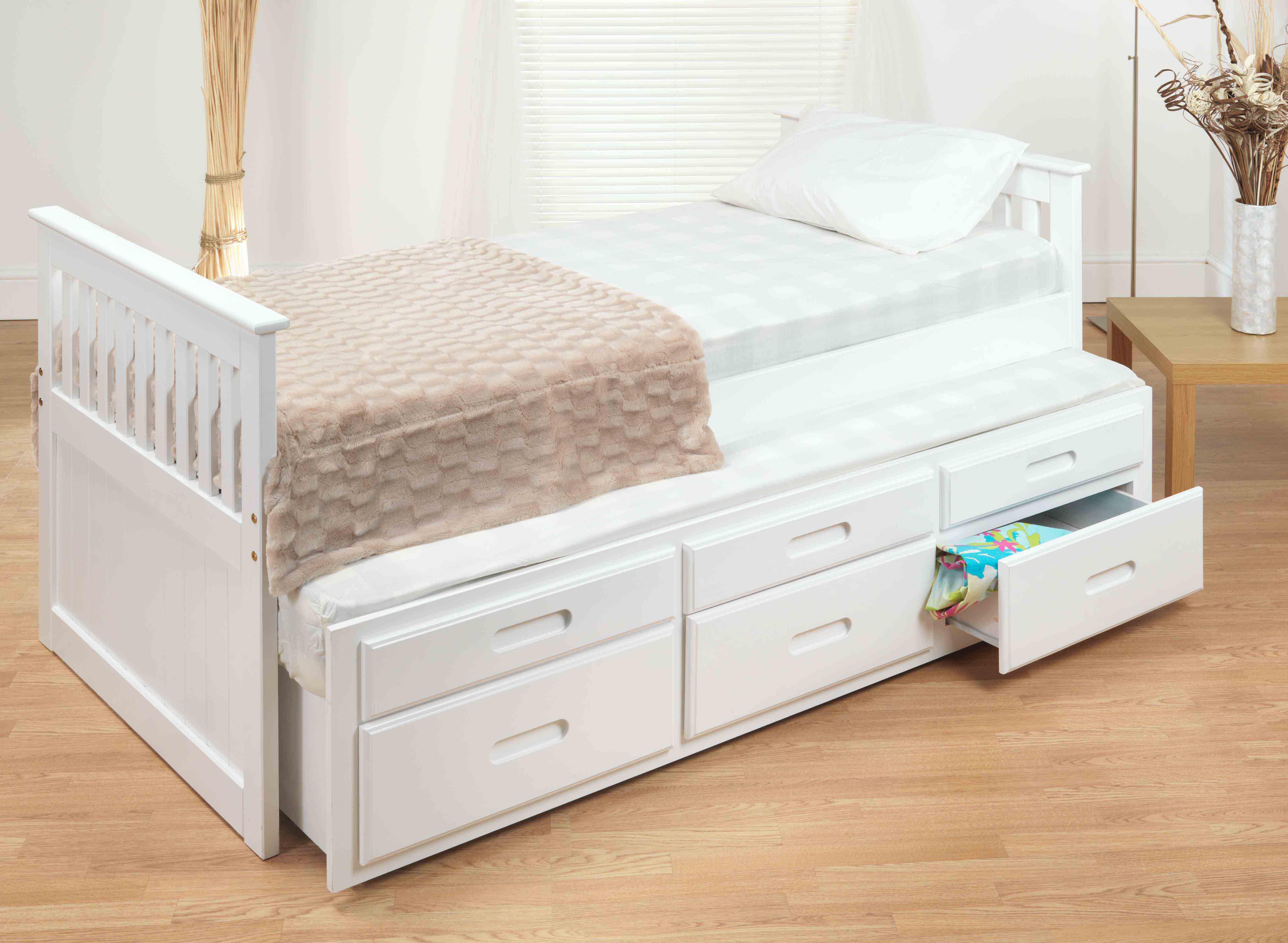 CAPTAINS UNDER-BED IN WHITE