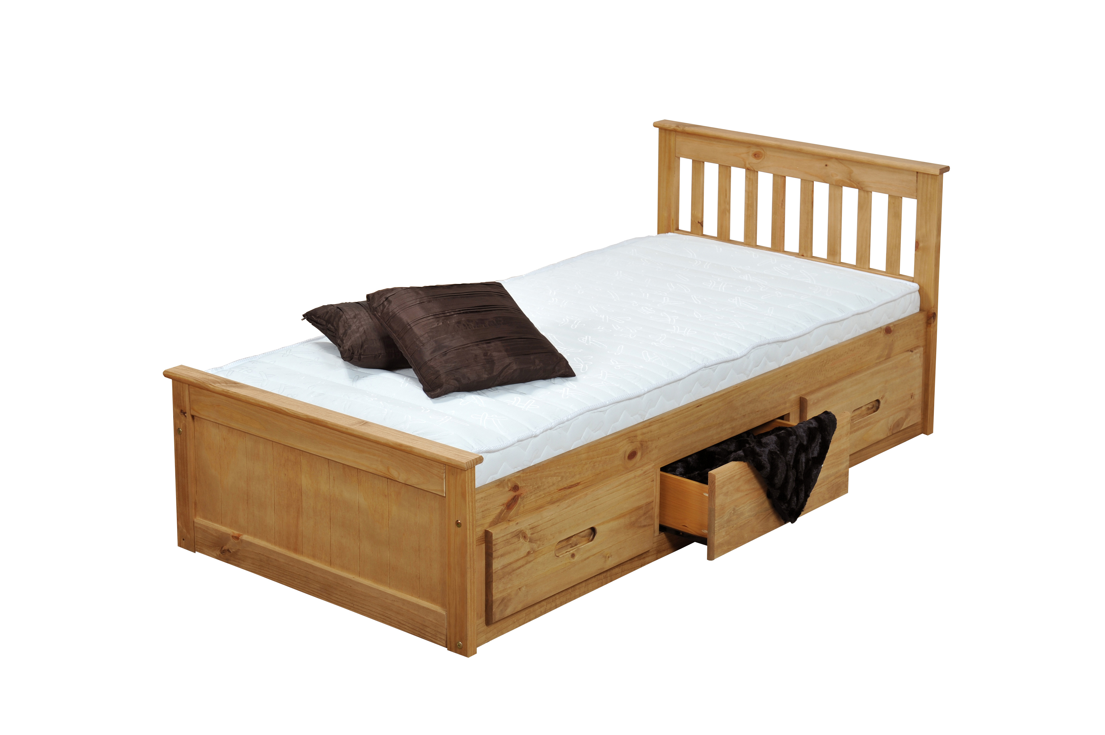 3FT MISSION STORAGE BED IN WAXED