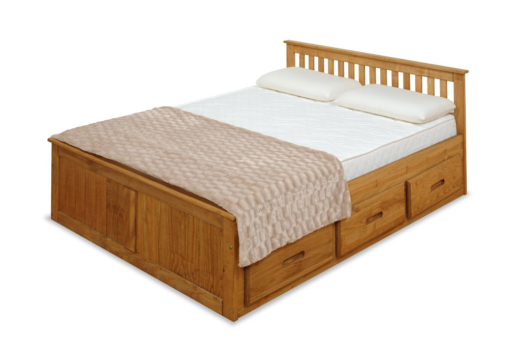 4FT MISSION BED IN WAXED PINE