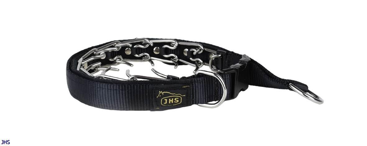 Dressur-/Zughalsband von JHS mit Textilüberzug