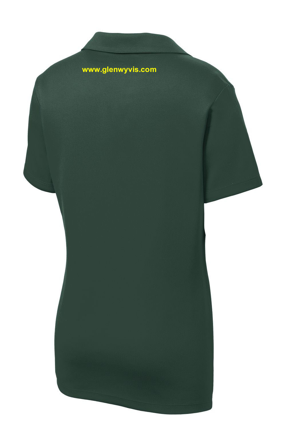 LADIES FIT POLO - FOREST GREEN