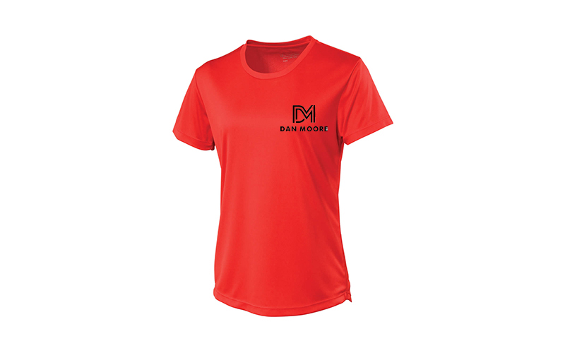 SPORTS T SHIRT - LADIES FIT - RED