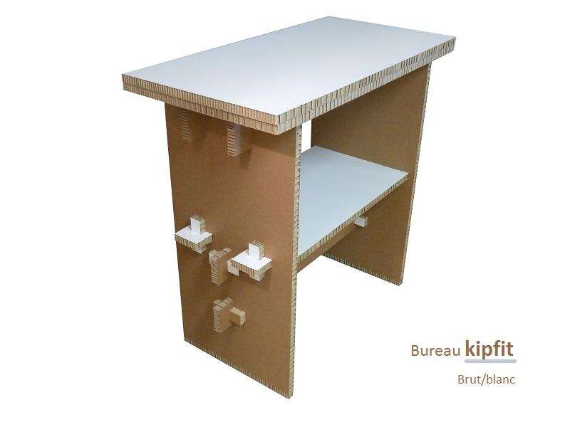 Bureau kipfit brut/blanc