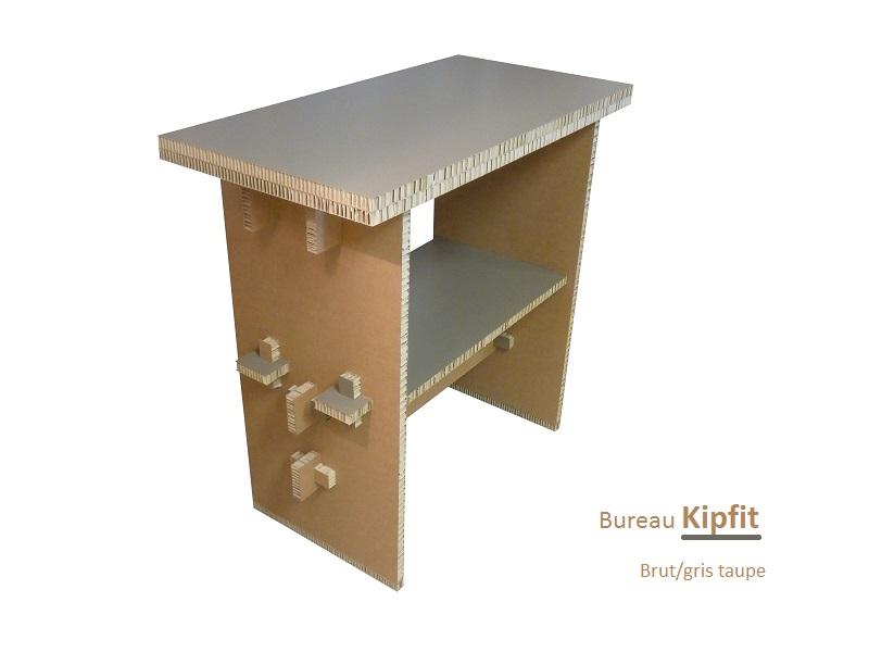 Bureau kipfit brut/gris taupe