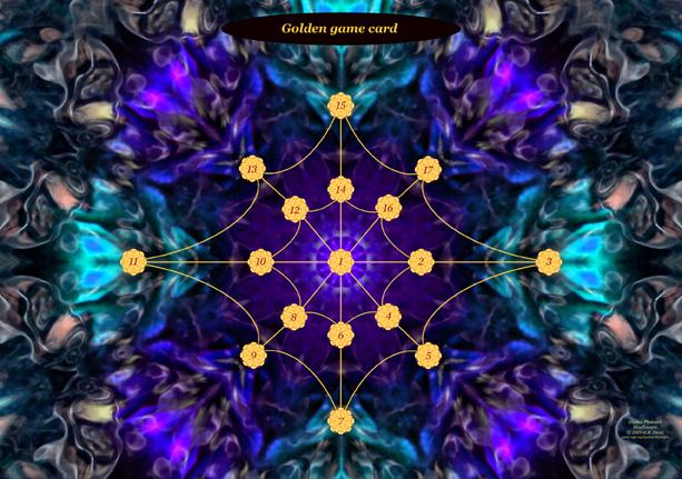 Golden game card Blueflower