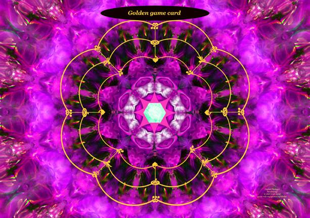 Golden games card Purplesong
