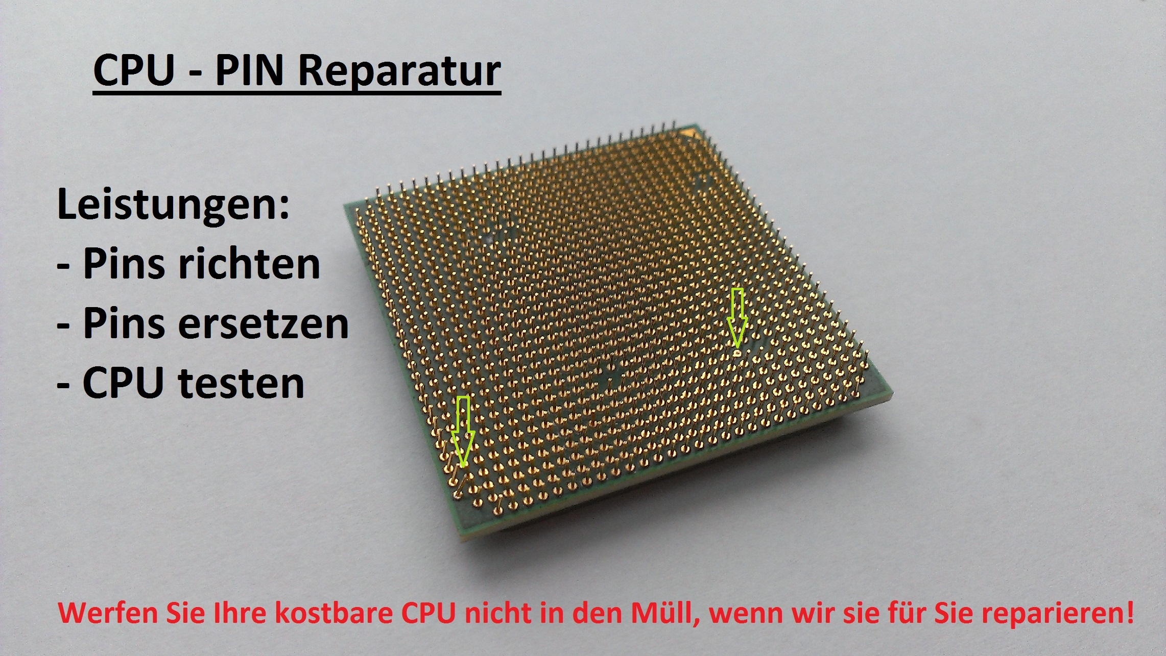 CPU Pin Reparatur / Korrektur