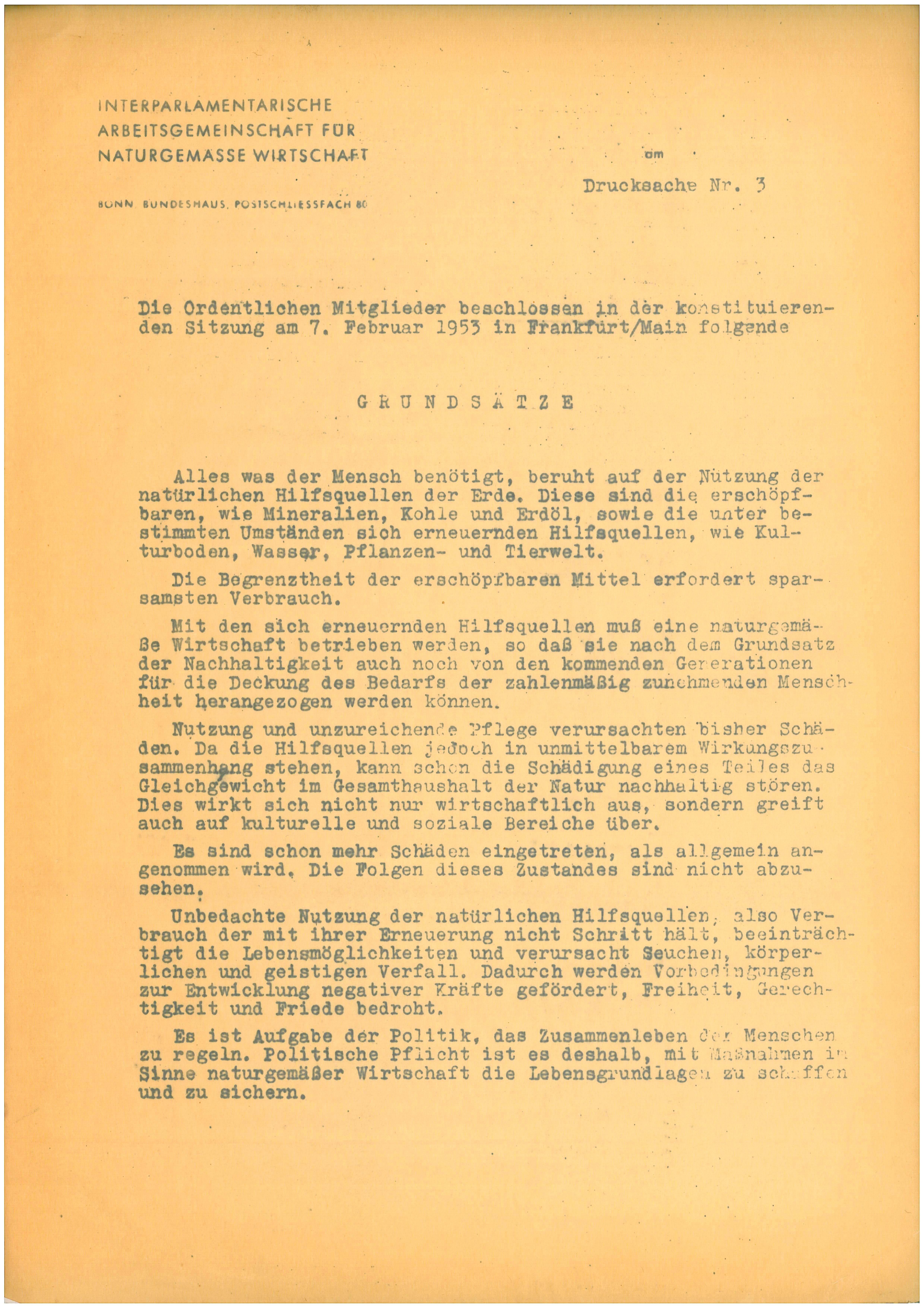 Grundsätze der Interparlamentarischen AG
