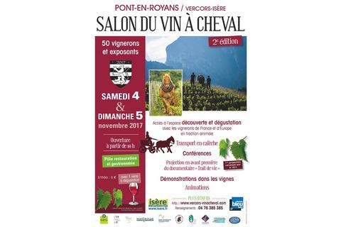 Salon vigne à cheval - affiche