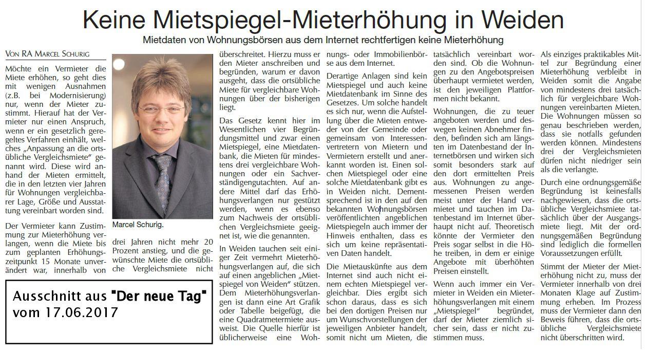 Mieterhöhung Mietspiegel Weiden Oberpfalz