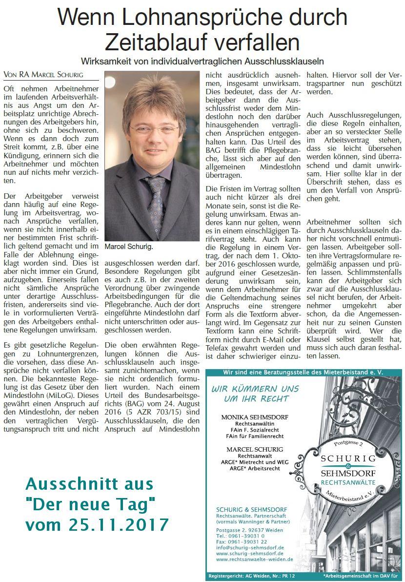 Anwalt für Arbeitsrecht: Rechtsanwalt Marcel Schur