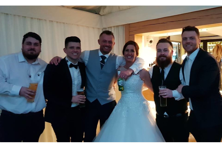 band-with-bride-and-groom