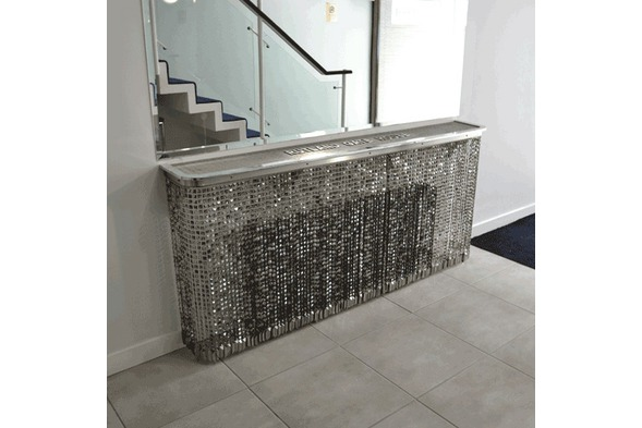 Crystal Radiator Cover and bespoke console table