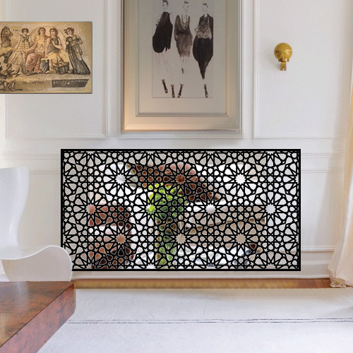 Persian and arabic style mirror radiator covers
