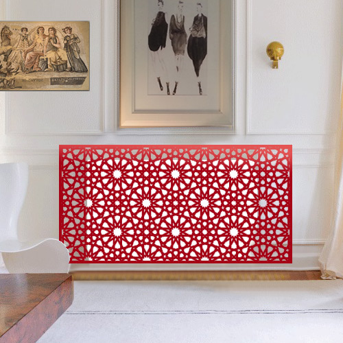 Persian and arabic style red radiator covers