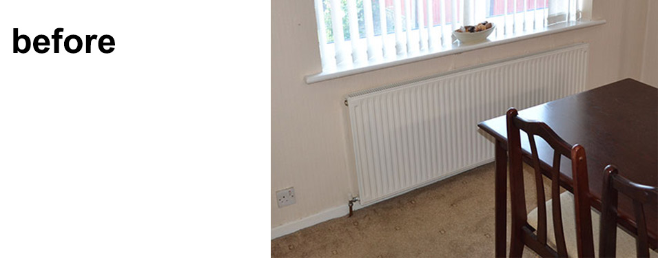 Before shot of dining room radiator