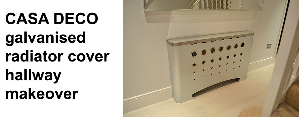 After shot of modern hallway radiator cover