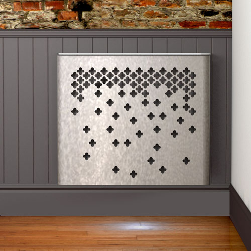 Falling geometric pattern on a radiator cover