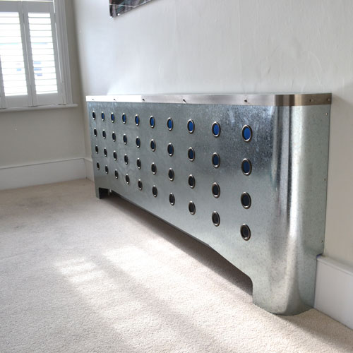 Galvanised radiator covers