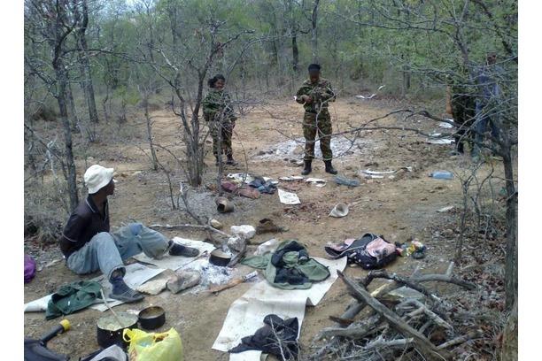 The Black Mamba APU find a poacher's camp.