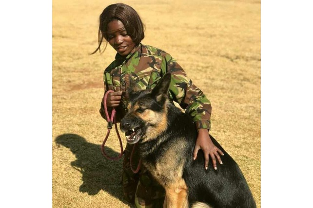 K9 handler, Black Mamba APU, South Africa