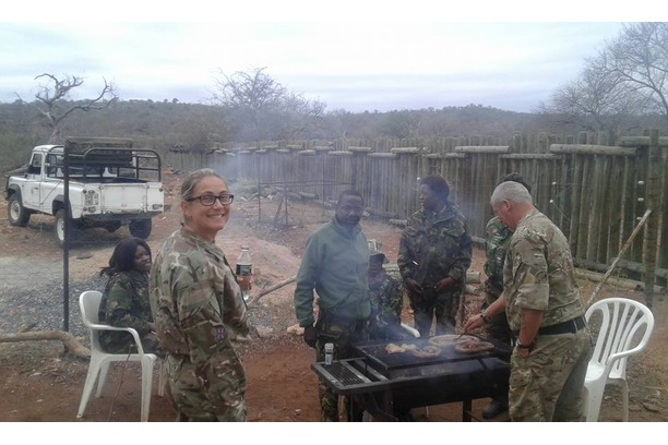 Braai, BBQ in the Balule Nature Reserve, Kruger