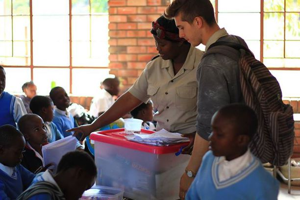 Educating the children in Africa about wildlife