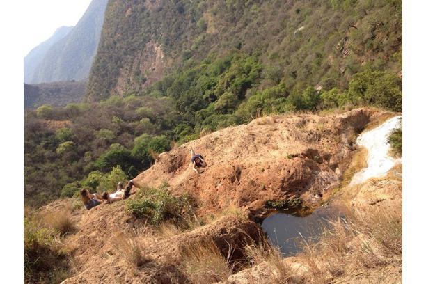 Scenic Drakensberg spot used for cooling off!