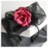 Black and pink fascinator, wedding fascinator
