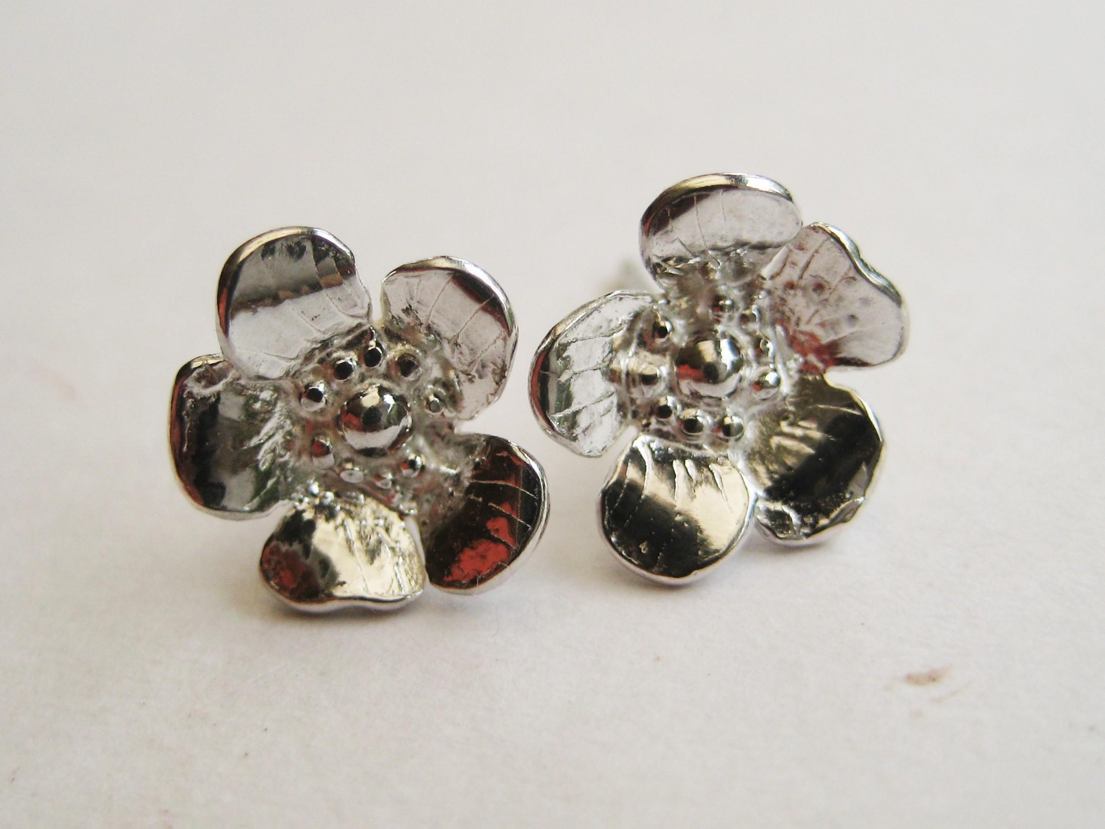 Wild Rose Stud Earrings