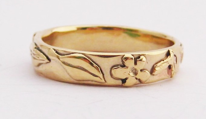 Gold Leaves and Flowers Band