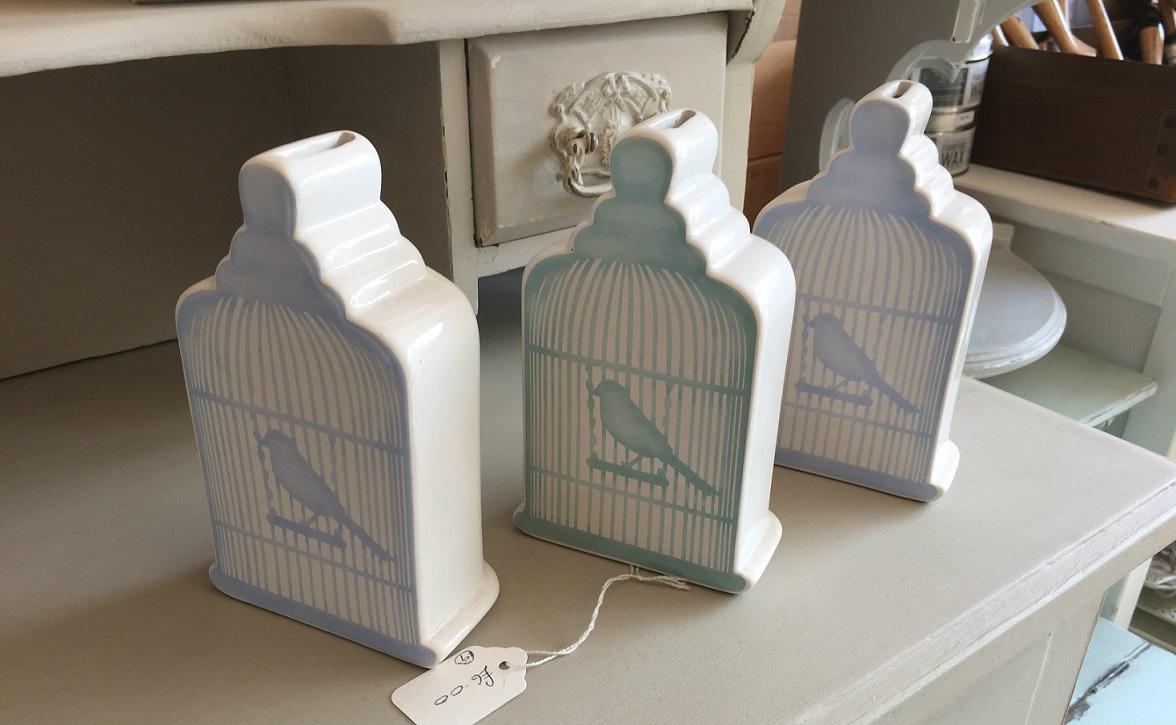 Ceramic Bird Cage Money Box