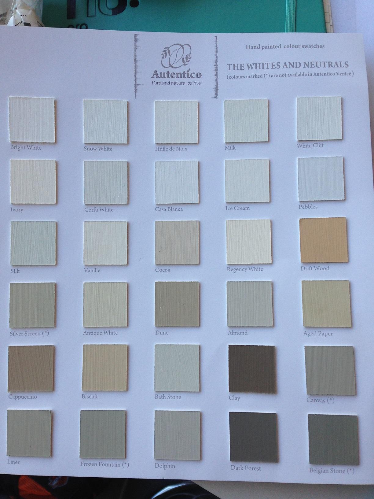 Autentico Vintage Chalk Paint THE WHITES AND NEUTRALS PART 1