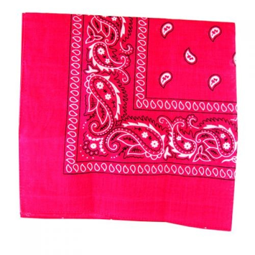 Pink 100% Cotton Bandana