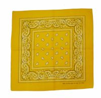 Yellow 100% Cotton Bandana