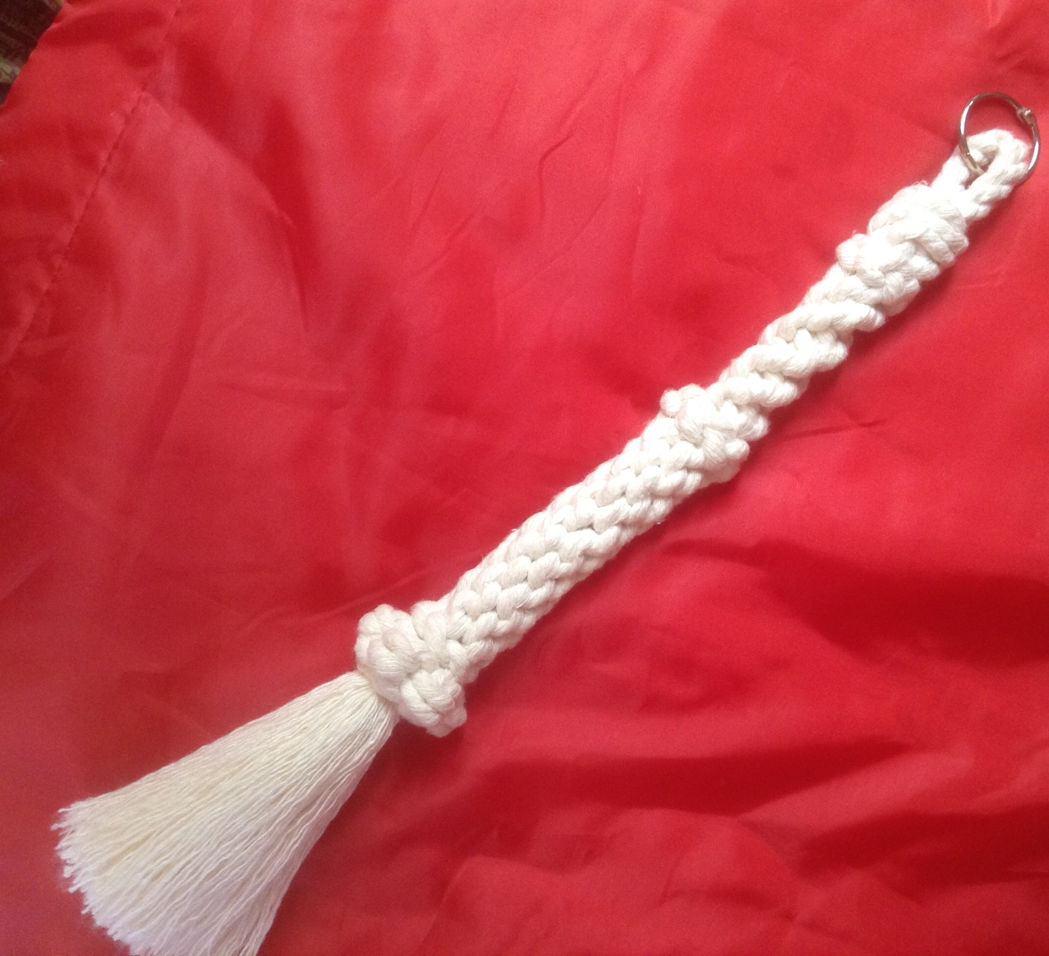 White Cotton Rope Tiller Tassel/Bell Rope (G)
