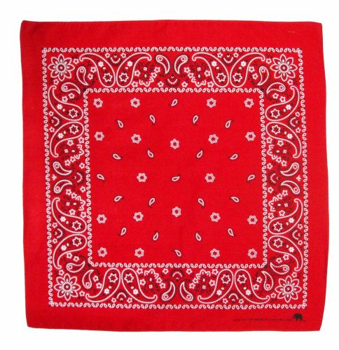 Red 100% Cotton Bandana