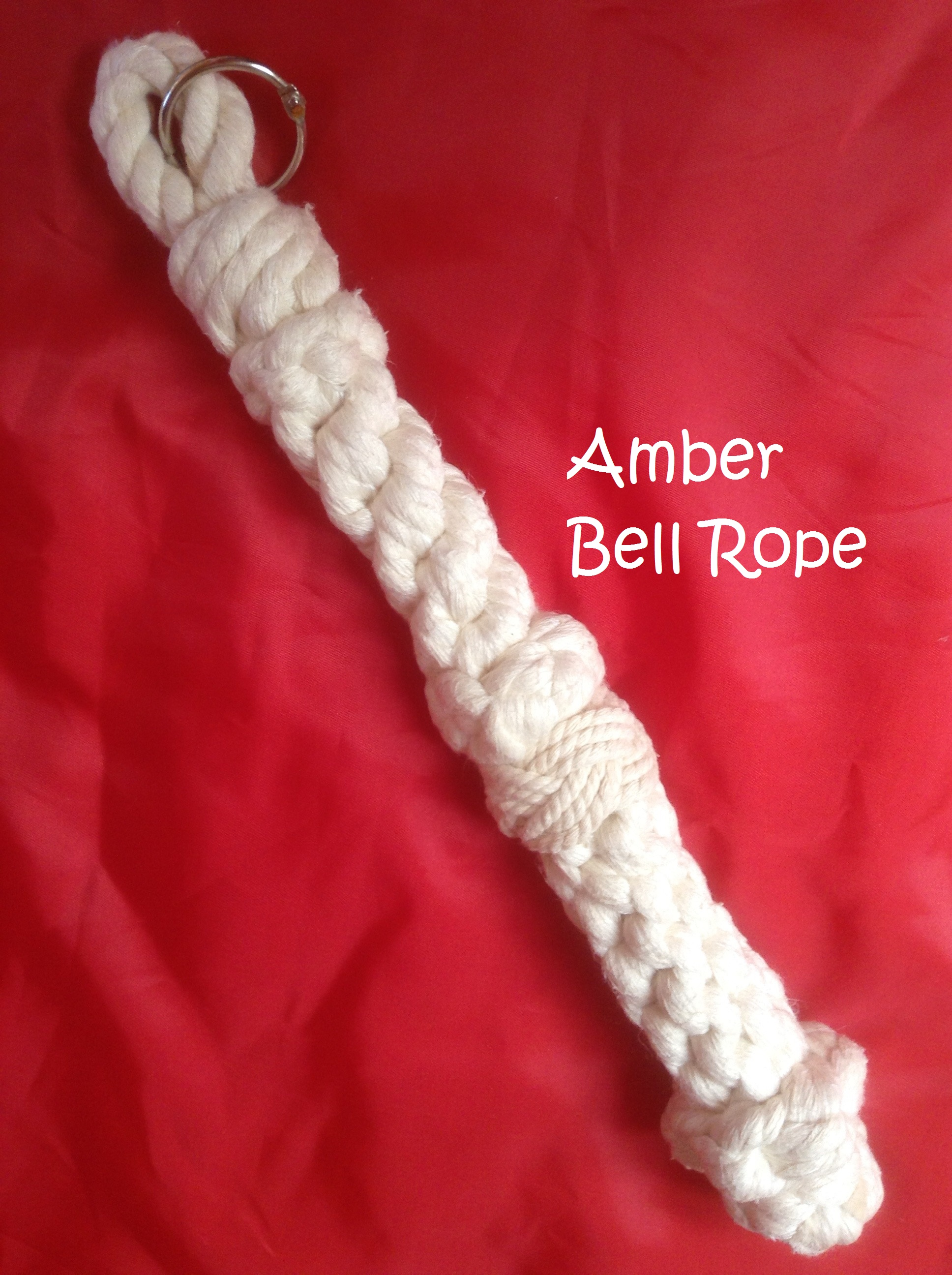 White Cotton Rope Tiller Tassel/Bell Rope (H)